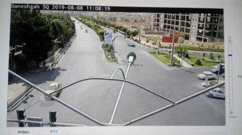 تقاطع دانشگاه آزاد تحت پوشش دوربینهای نظارتی قرار گرفت