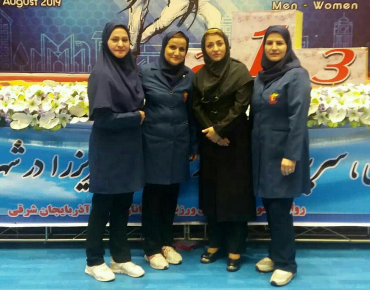 کادر برگزاری و داوران حاضر استان البرز در بیست و چهارمین دوره رقابتهای قهرمانی جوانان و بزرگسالان کشور