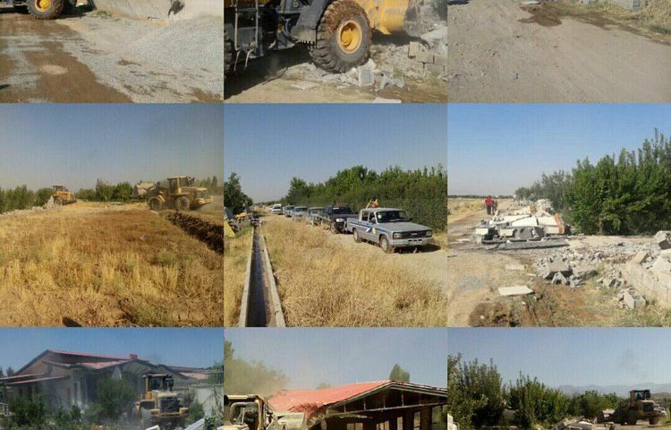 تخریب ۱۵۰ مورد ساخت و ساز غیر مجاز