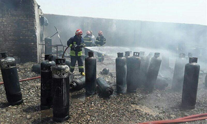 ♦️انفجار شدید سیلندر گاز در استان البرز