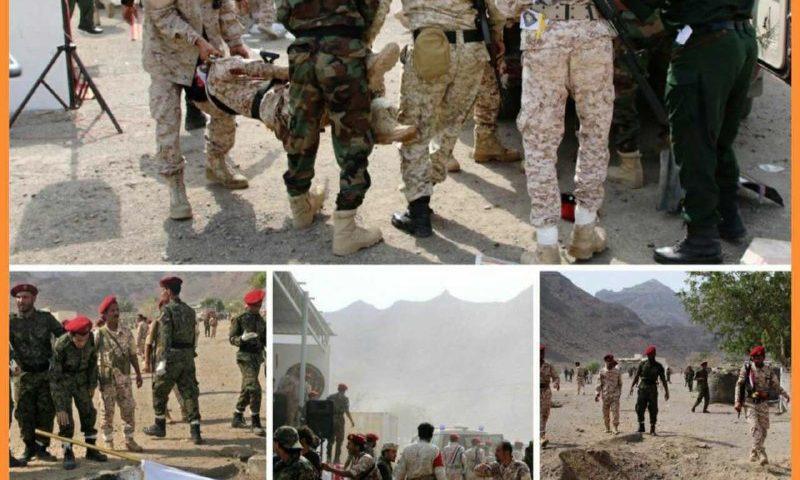 آمار تلفات حمله موشکی و پهبادی امروز ارتش یمن به رژه مزدوران سعودی و اماراتی