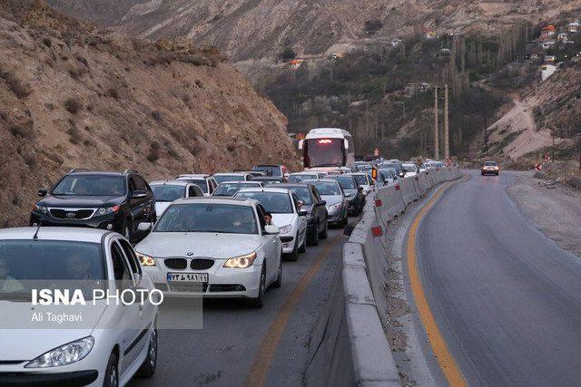 ترافیک سنگین و اعمال محدودیت های ترافیکی در محورهای شمالی