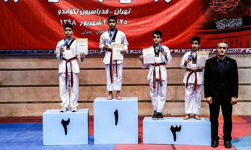 مدال آوران وزن نهم بیست و هفتمین دوره مسابقات تکواندو قهرمانی کشور