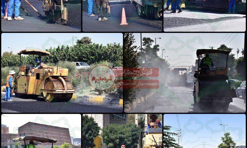 پروژه آسفالت جاده مخصوص تهران _ کرج