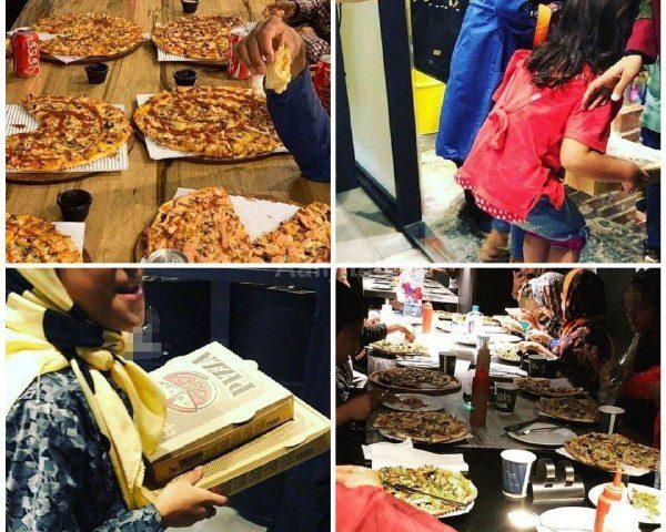 نذر پیتزای یکی از رستوران ها