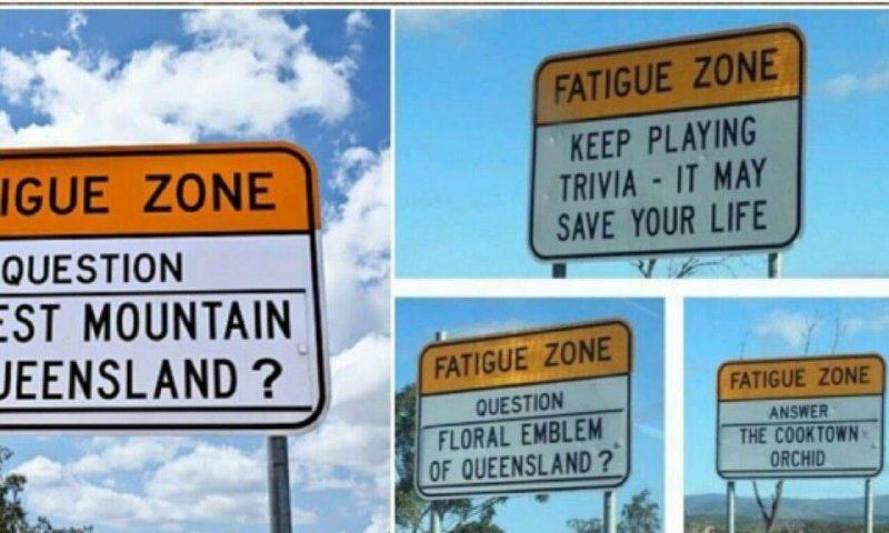 برخی از جاده های استرالیا با تابلوهای سوال و جواب هایی پر شده است