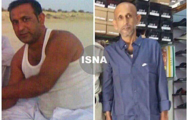 دو تصویر از ملوان ایرانی آزاد شده قبل و بعد از اسارت توسط دزدان دریایی