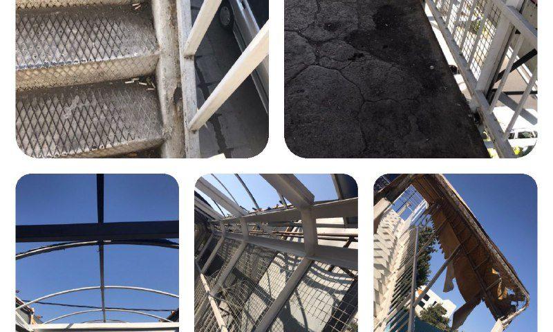وضعیت نابسامان برخی پل های هوایی در برخی از مناطق کرج