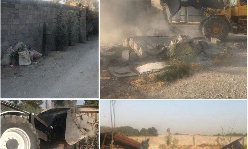تخریب سه شهرک غیرقانونی در آستانه ساخت در فردیس