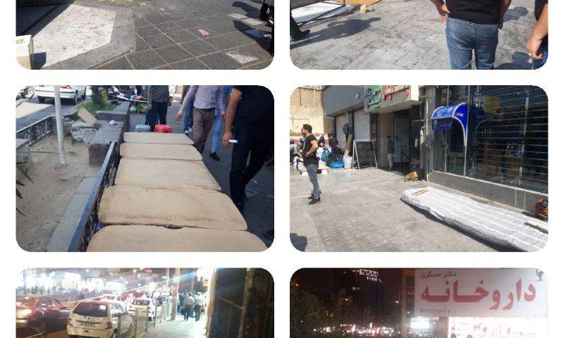 ساماندهی دست فروشان خیابان شهید بهشتی