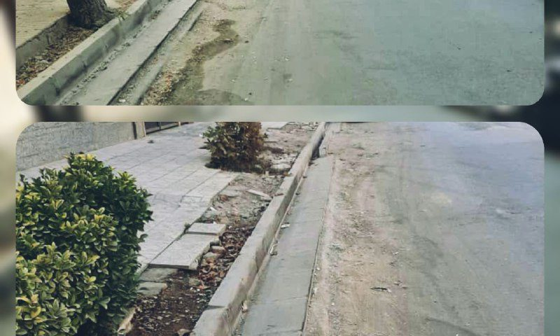 عملیات نیمه کاره در خیابان قلم