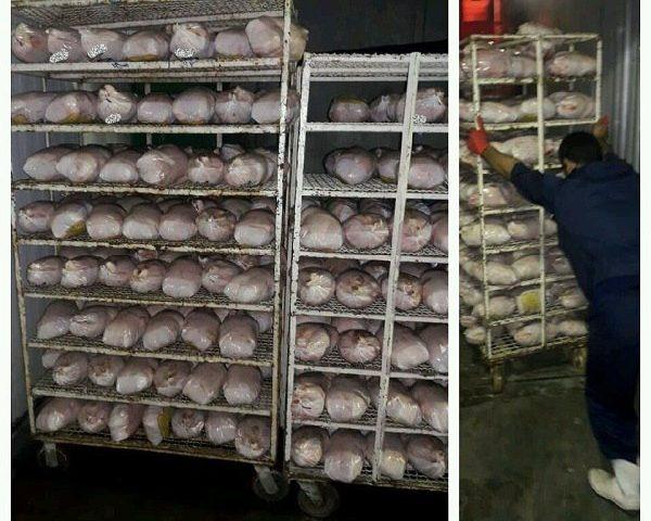 کشف ۱۰۰۰ کیلو مرغ تاریخ مصرف گذشته در ساوجبلاغ