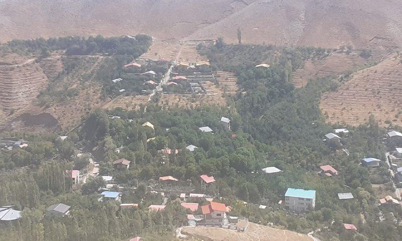 روستای زیبای هرین ازنمای دور