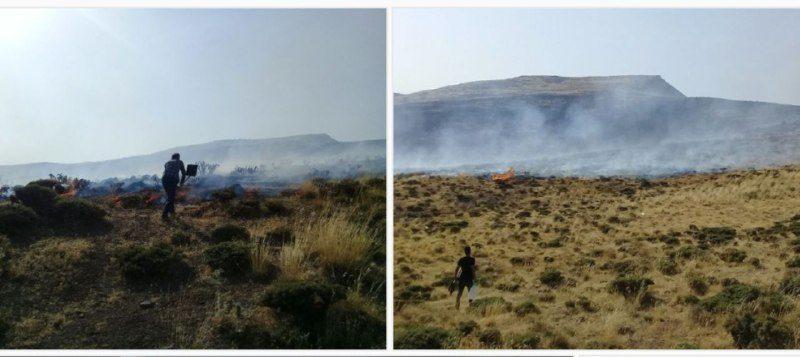 آتش سوزی در مراتع نوجان اتشگاه