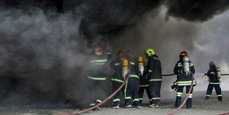 آتش سوزی حسینیه و مصدومیت فردی در کرج