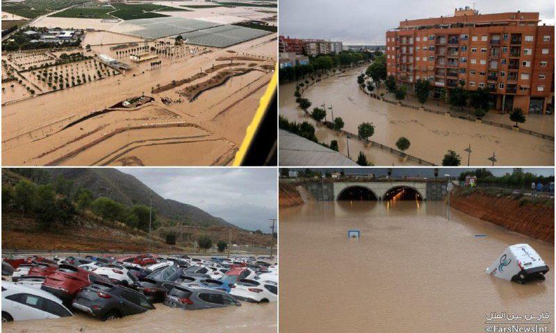 وقوع بارانهای سیل آسا در جنوب شرقی اسپانیا