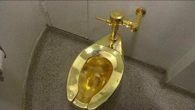 سرقت توالت طلا از کاخ بلنهایم در انگلیس