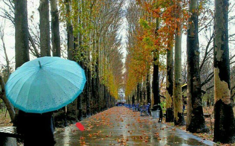 کرج،باغ فاتح با چهره زیبای پاییزی