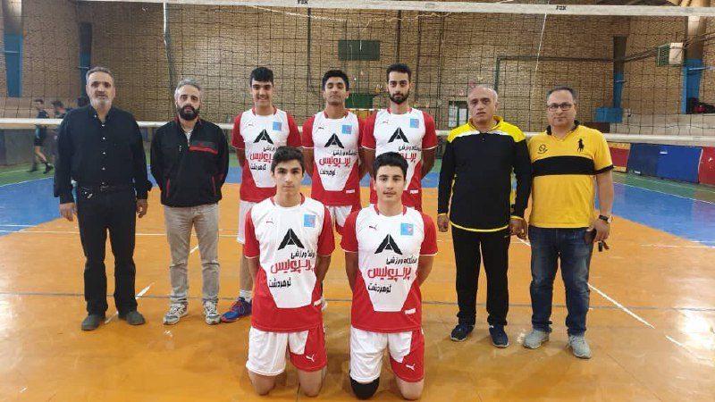 تیم والیبال شرق کرج در مسابقات جام خوشه چین استان البرز