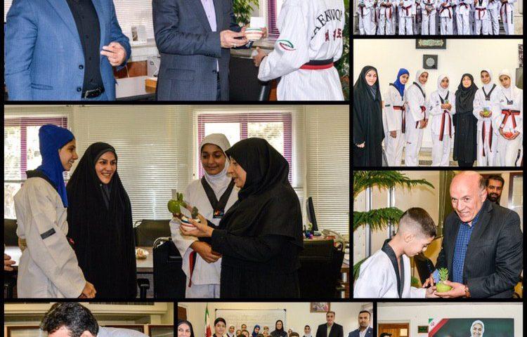 تقدیر تکواندوکاران از زحمات مسئولین وزارت ورزش و جوانان
