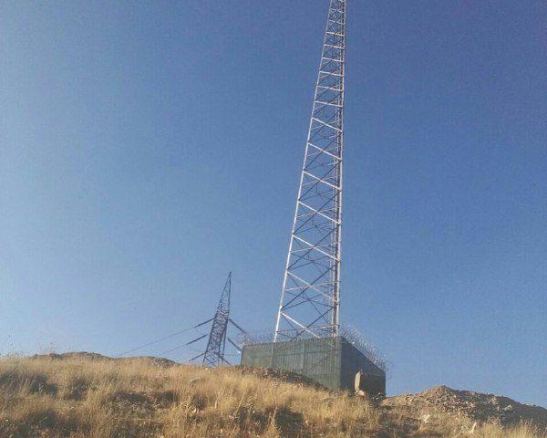 ارتباط تلفن همراه از طریق سایت مستقر در روستای آزادبر