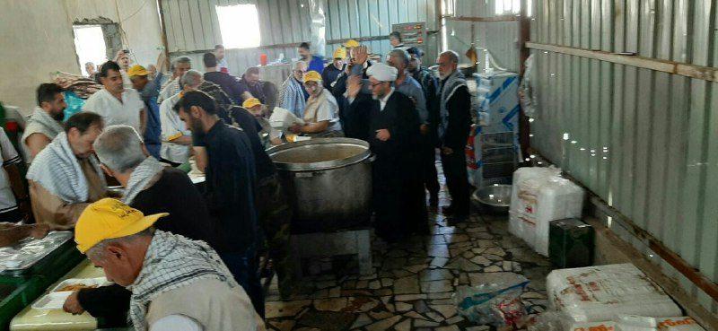 بازدید امام جمعه بخش آسارا و بخشدار از موکبین نجف و کربلا