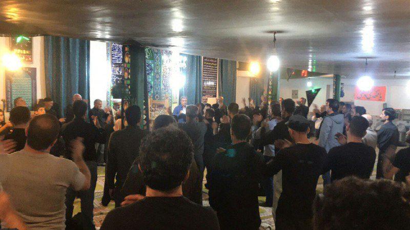 عزاداری شب اربعین در حسینیه امام چشمه