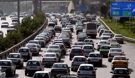 ترافیک در محورهای البرز سنگین است