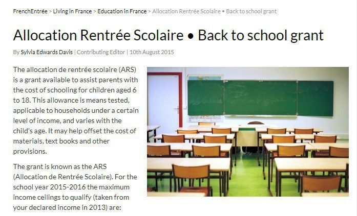 در فرانسه تمام بچه ها، برای خرید لوازم تحریر مبلغی از دولت دریافت میکنند