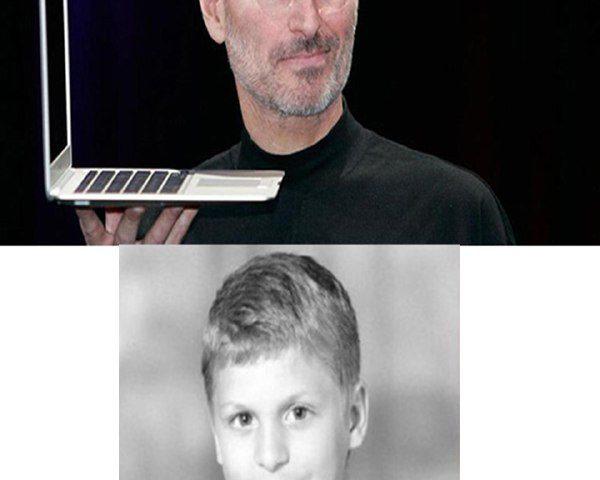 استیو جابز بنیانگذار کمپانی اپل اولین بار به شکل زیر به سرکار رفت