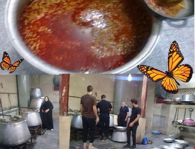 جوانان  محله ناصریه مسجد الزهرا (س) با هما هنگی هم غذای نذری شام اربعین را تدارک دیدند