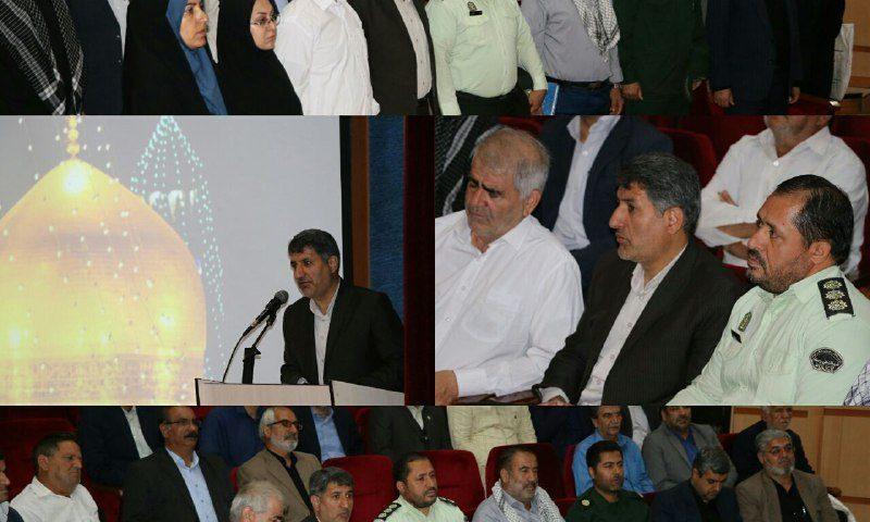همایش تقدیر از رزمندگان و جانبازان ۸سال دفاع مقدس شهرستان نظرآباد