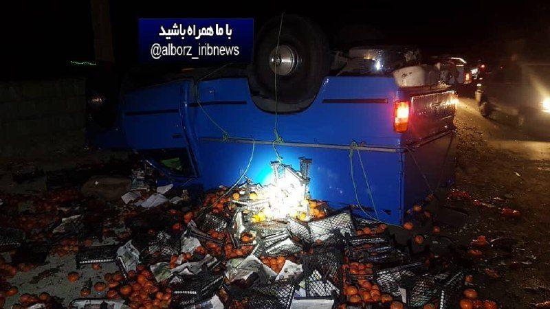 ۵ کشته و مصدوم در تصادف جاده کرج چالوس