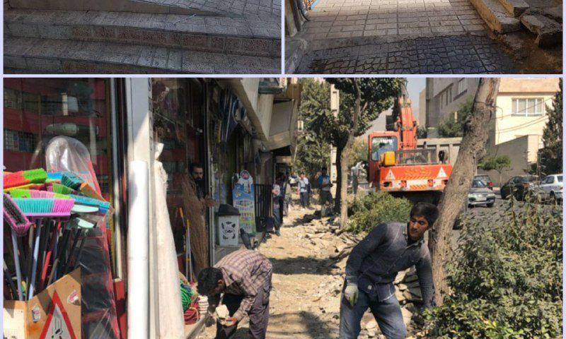 بهسازی و مناسب سازی پیاده رو خیابان شهرداری به منظور حذف موانع برای کم توانان حرکتی