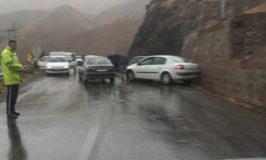 �حادثه پشت حادثه با یک باران معمولی