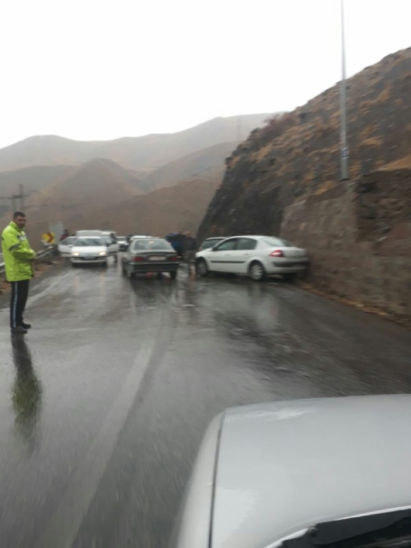 ️حادثه پشت حادثه با یک باران معمولی