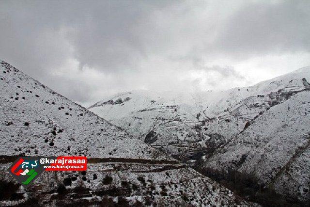 ️ اولین برف پائیزی البرز در طالقان بر زمین نشست