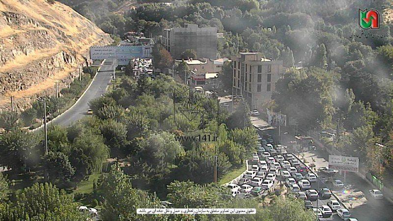 ️ ترافیک سنگین در ورودی جاده چالوس محدوده بیلقان
