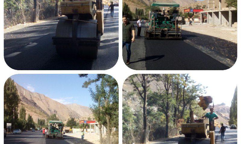 عملیات آسفالت رمپهای وردی و خروجی جایگاه عرضه سوخت امیرکبیر( شهر آسارا)