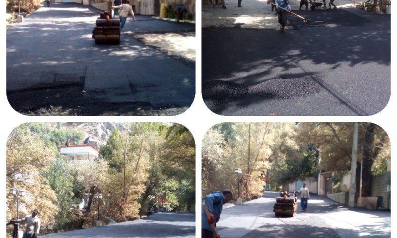 ادامه اجرای عملیات روکش آسفالت معابر محله پلخواب