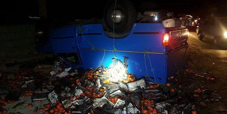 برخورد مرگبار دو دستگاه خودرو در کرج