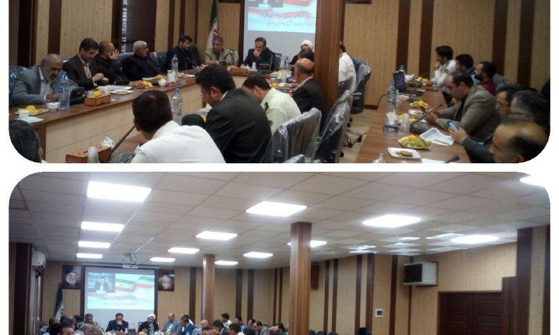 جلسه بررسی مسائل و مشکلات بخش آسارا با حضور دکتر فاضلی رییس دادگستری استان