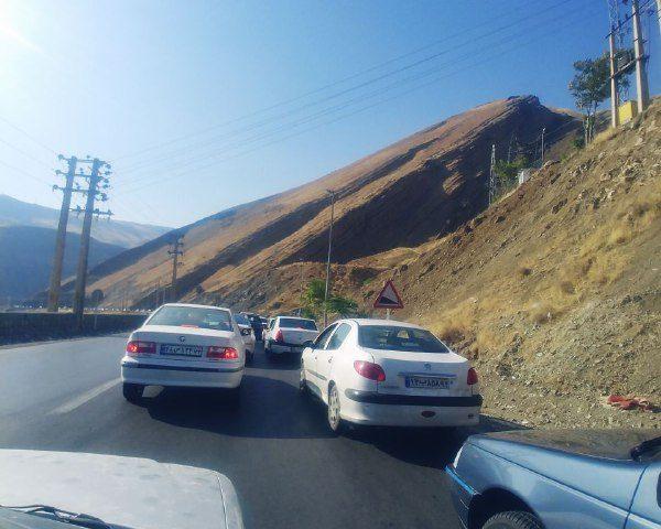 ترافیک سنگین از عسل کوچ به طرف کرج
