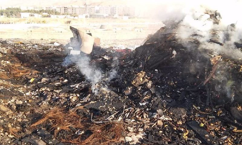 ️سوزندان زباله و ضایعات در منطقه ۶ کرج