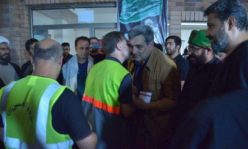 شهردار تهران در شهر نجف و در محل اسکان کارگران خدمات شهری