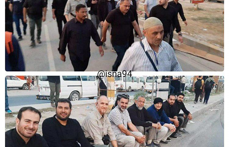 حضور وزیر اطلاعات در راهپیمایی اربعین