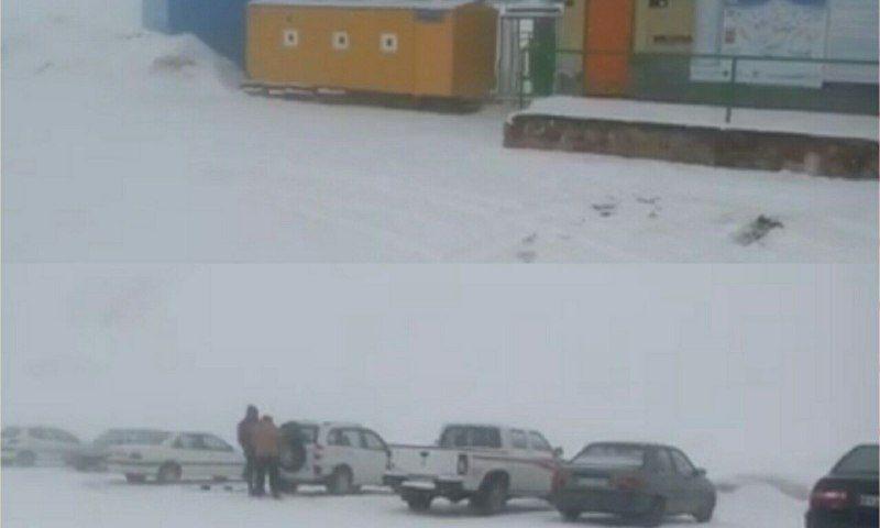 بارش برف بهاری در استان البرز