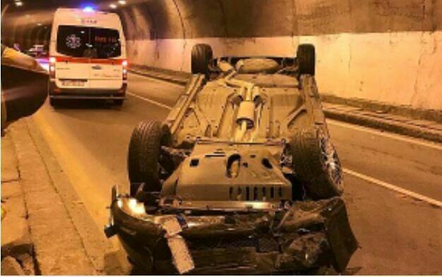تصادف در تونل شماره پنج جاده ک