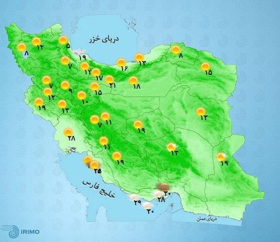 هواشناسی  از یکشنبه هفته آین