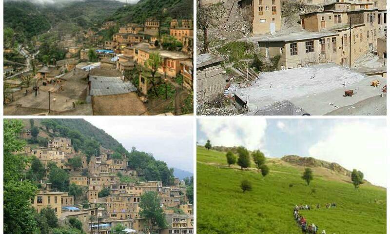 گیلان شهر ماسوله ماسوله در ۵۵
